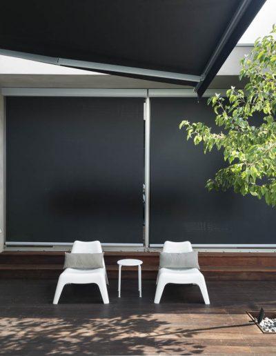 patio pull down shades